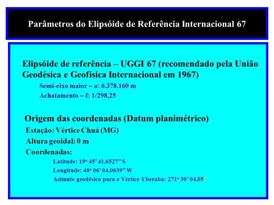 World Geographic System - WGS 84 é um datum de referência para a utilização de Sistemas de Posicionamento Global - (GPS)