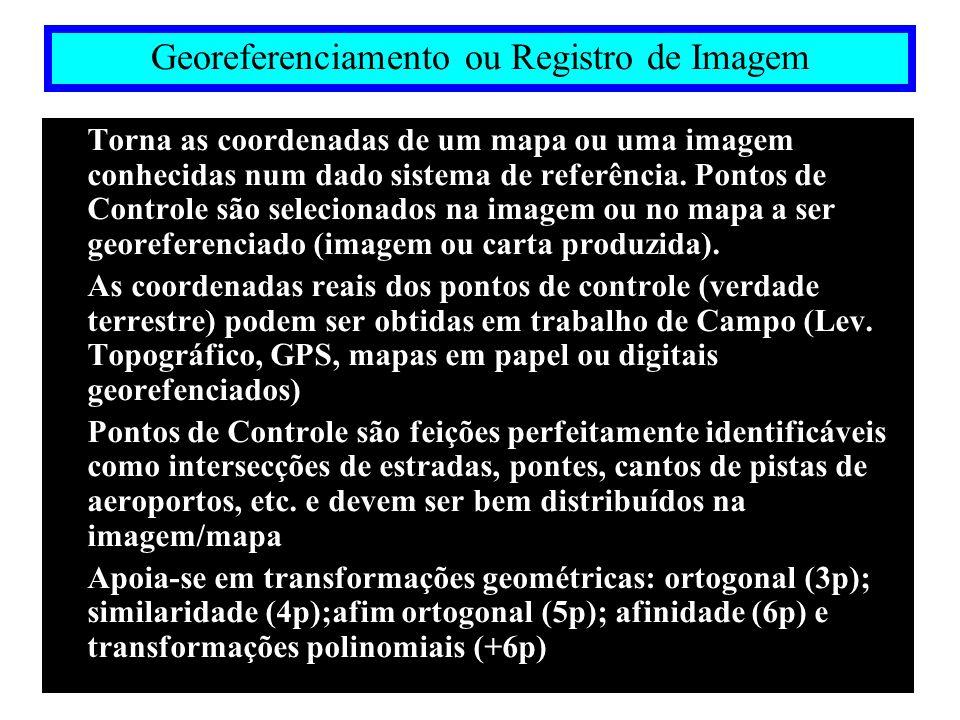 TRANSFORMAÇÕES GEOMÉTRICAS Transformação de Similaridade (4 parâmetros - 2 pontos de controle ) http://www.ptr.poli.usp.br/labgeo
