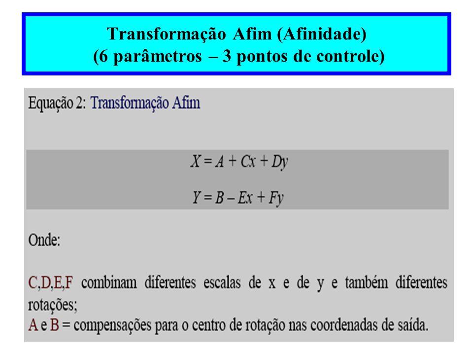 Análise da Precisão no Georeferenciamento (E i,N i )= coordenadas UTM de imagem georeferenciada (E c,N c )= coordenadas UTM de carta – verdade terrestre
