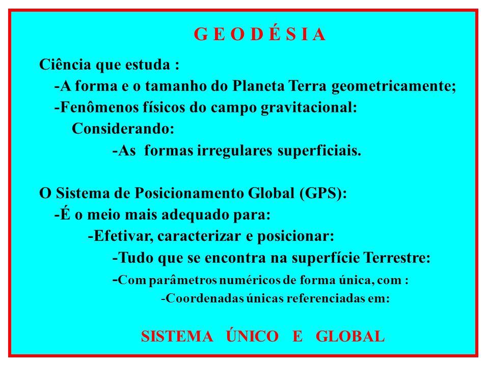 G E Ó I D E Superfície gravitacional equipotencial que mais se tangencia ao Nível Médio dos Mares (NMM) Variação do nível médio do mar em função do campo gravitacional da Terra.
