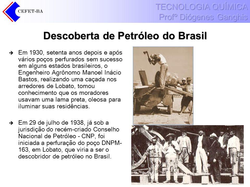 Descoberta de Petróleo do Brasil Em 1930, setenta anos depois e após vários poços perfurados sem sucesso em alguns estados brasileiros, o Engenheiro A