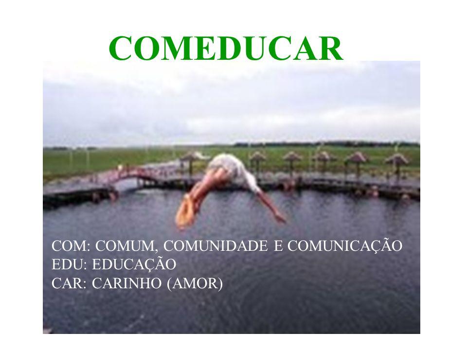 COMEDUCAR COM: COMUM, COMUNIDADE E COMUNICAÇÃO EDU: EDUCAÇÃO CAR: CARINHO (AMOR)