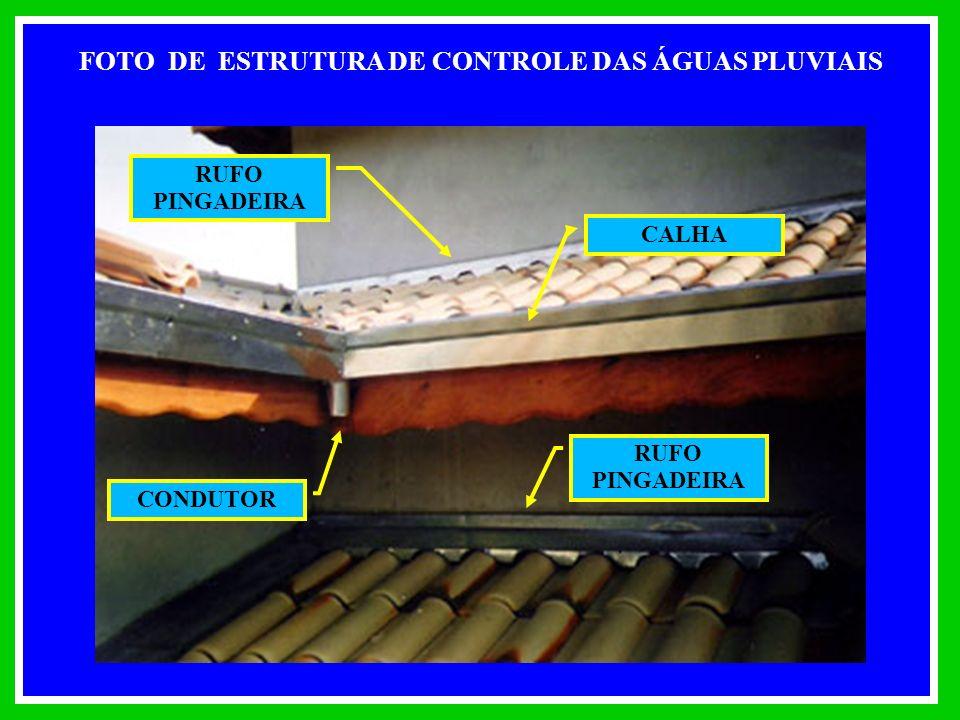 RUFO PINGADEIRA CALHA CONDUTOR RUFO PINGADEIRA FOTO DE ESTRUTURA DE CONTROLE DAS ÁGUAS PLUVIAIS