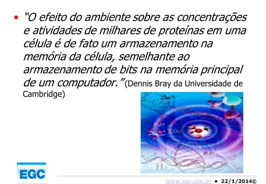 www.egc.ufsc.brwww.egc.ufsc.br 22/1/2014© O efeito do ambiente sobre as concentrações e atividades de milhares de proteínas em uma célula é de fato um