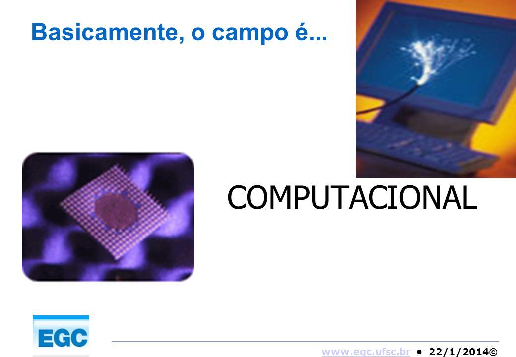 www.egc.ufsc.brwww.egc.ufsc.br 22/1/2014© Basicamente, o campo é... COMPUTACIONAL