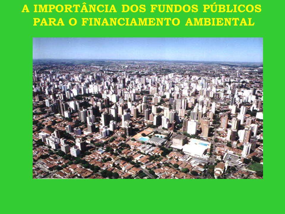 A IMPORTÂNCIA DOS FUNDOS PÚBLICOS PARA O FINANCIAMENTO AMBIENTAL