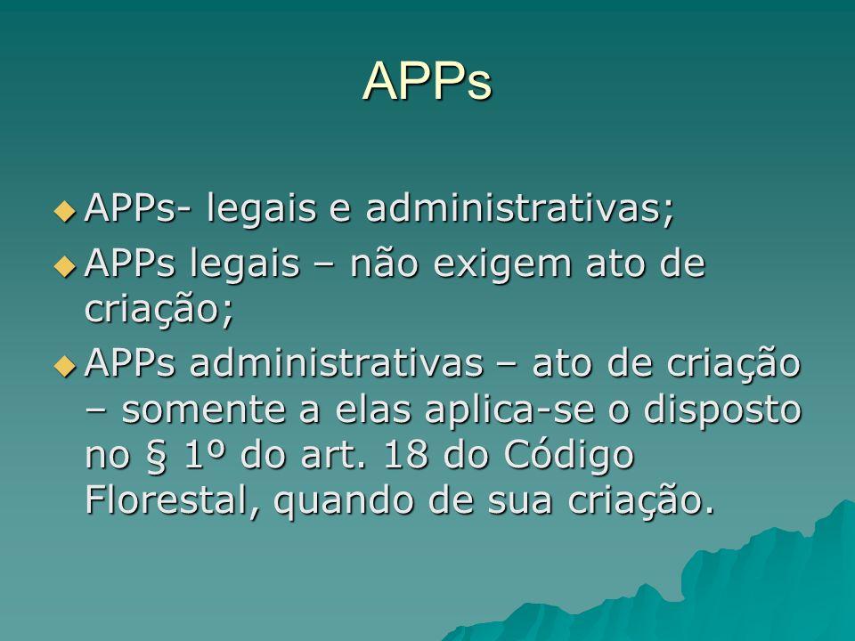 APPs INDÍGENAS APPs indígenas – espécie de APP administrativa; APPs indígenas – espécie de APP administrativa; Art.
