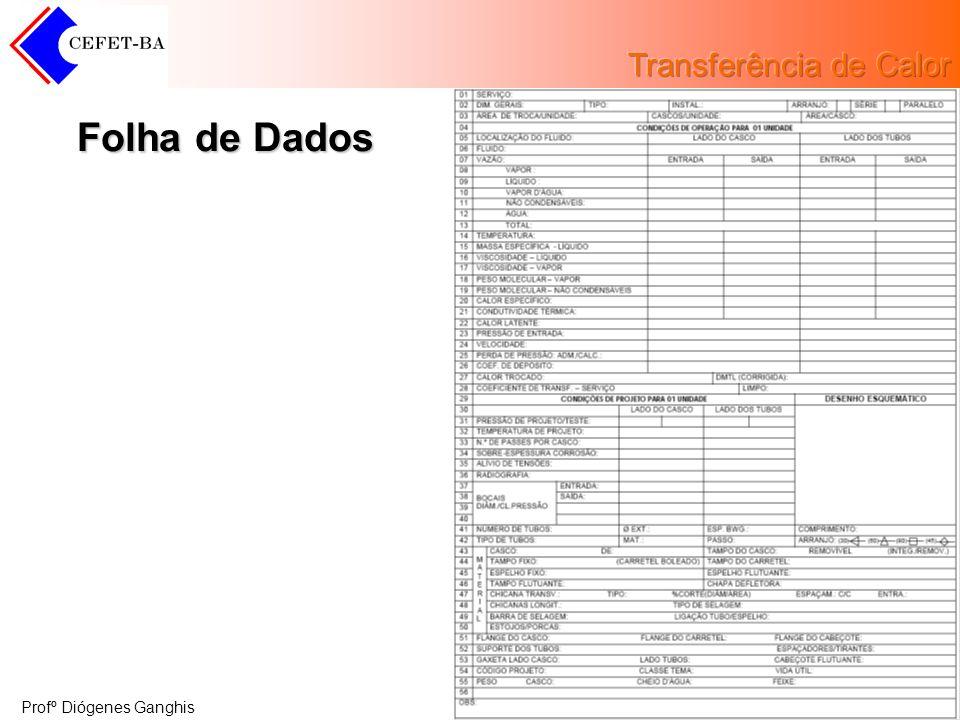 Profº Diógenes Ganghis Folha de Dados