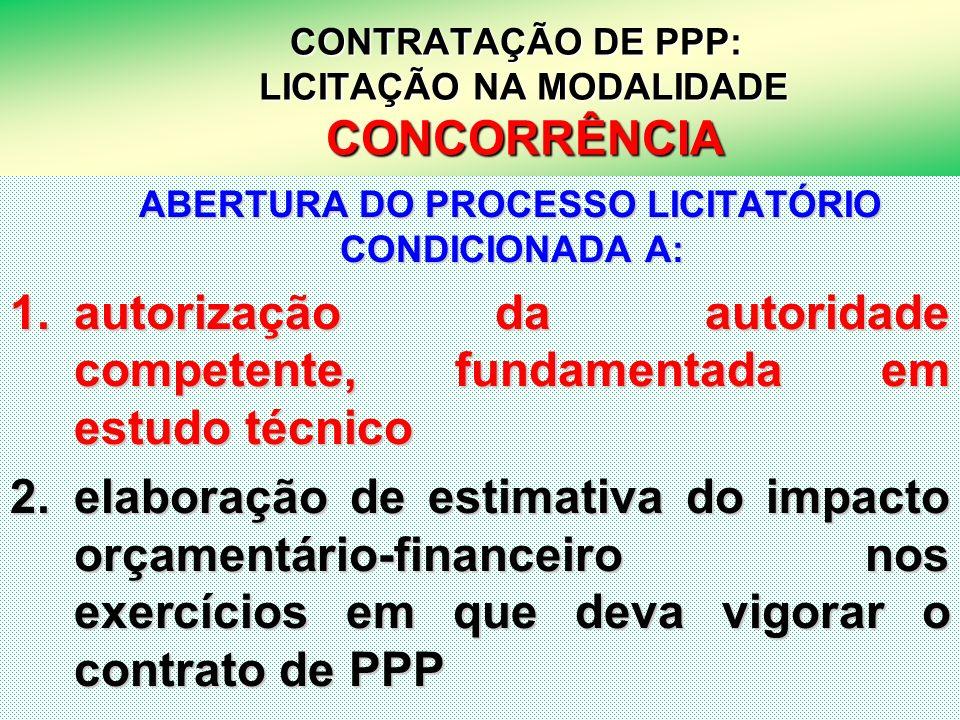 24 CONTRATAÇÃO DE PPP: LICITAÇÃO NA MODALIDADE CONCORRÊNCIA CONTRATAÇÃO DE PPP: LICITAÇÃO NA MODALIDADE CONCORRÊNCIA ABERTURA DO PROCESSO LICITATÓRIO