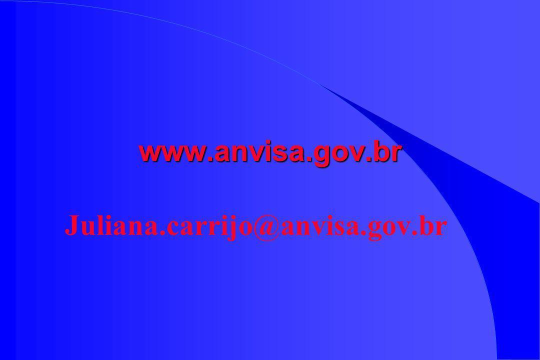 www.anvisa.gov.br Juliana.carrijo@anvisa.gov.br