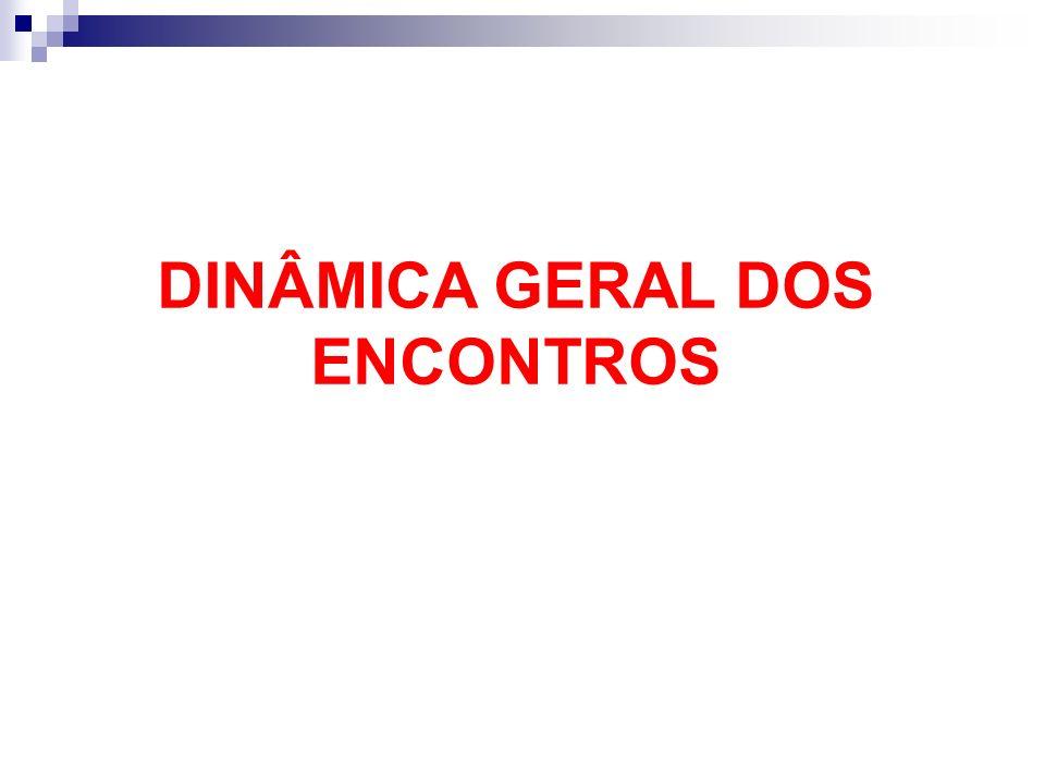 DINÂMICA GERAL DOS ENCONTROS