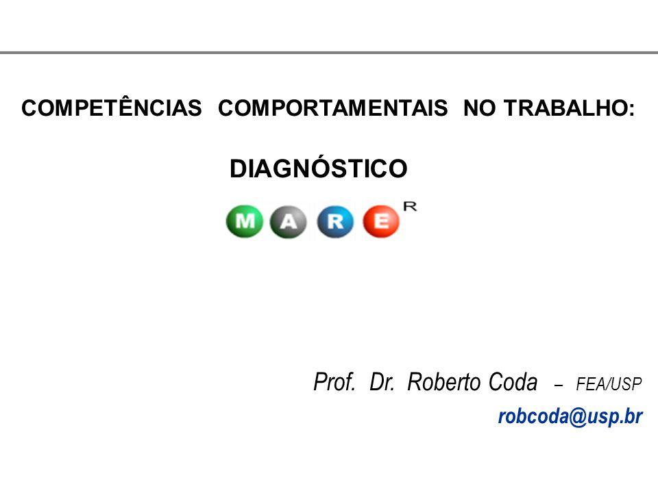 COMPETÊNCIAS COMPORTAMENTAIS NO TRABALHO: DIAGNÓSTICO Prof. Dr. Roberto Coda – FEA/USP robcoda@usp.br