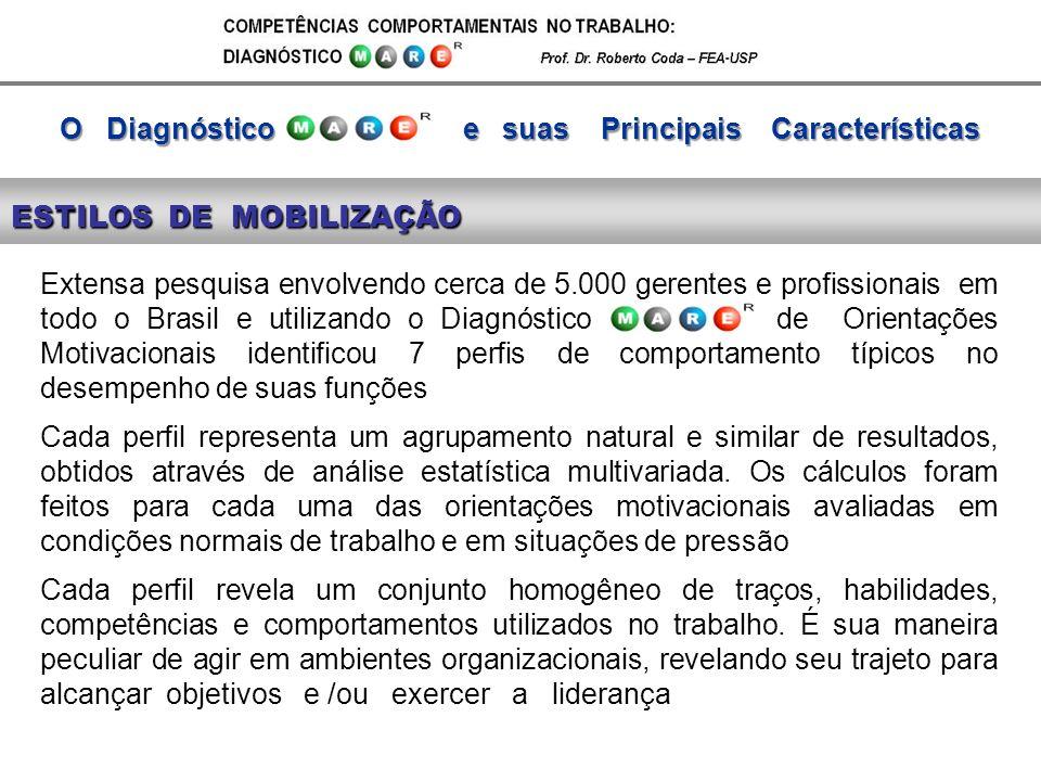 Extensa pesquisa envolvendo cerca de 5.000 gerentes e profissionais em todo o Brasil e utilizando o Diagnóstico de Orientações Motivacionais identific