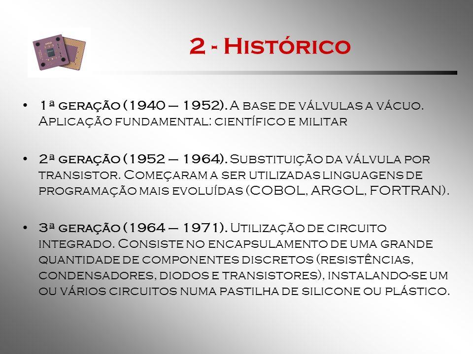2 - Histórico 4ª geração ( 1971 – 1981).