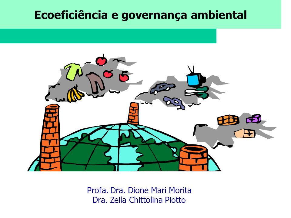 Ecoeficiência e governança ambiental Profa. Dra. Dione Mari Morita Dra. Zeila Chittolina Piotto
