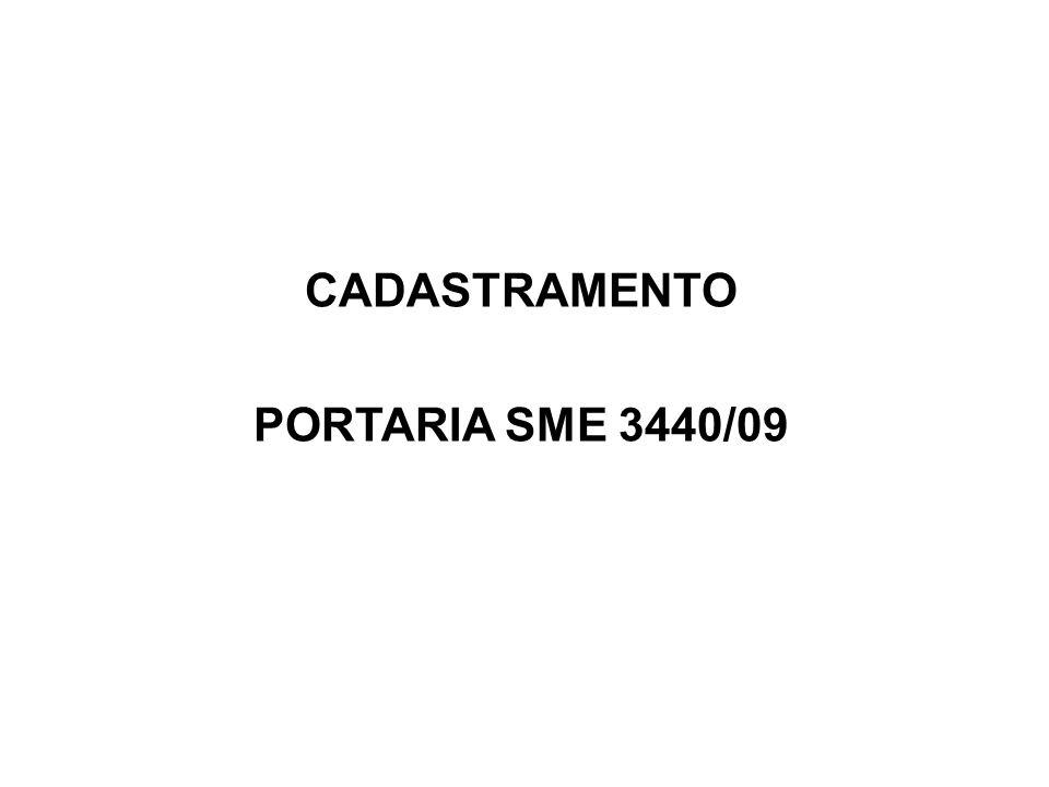 CADASTRAMENTO PORTARIA SME 3440/09