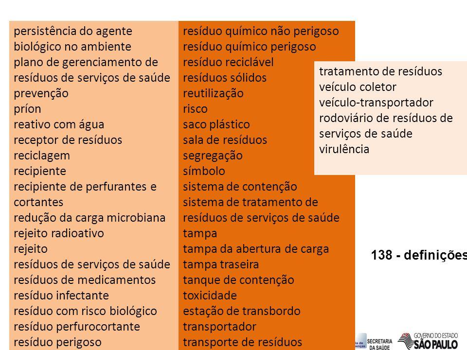 persistência do agente biológico no ambiente plano de gerenciamento de resíduos de serviços de saúde prevenção príon reativo com água receptor de resí