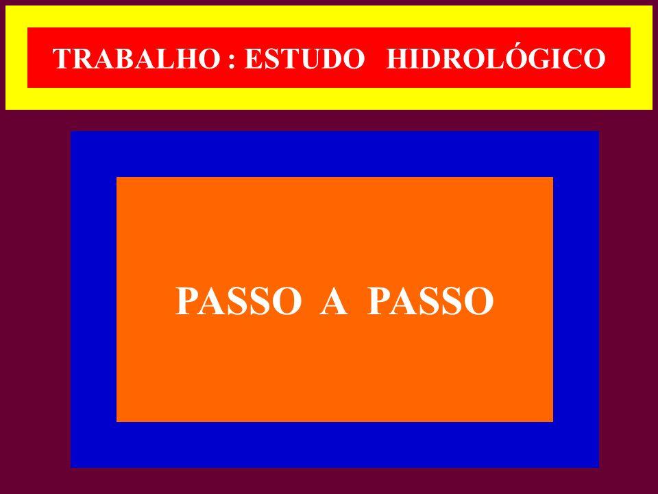 TRABALHO : ESTUDO HIDROLÓGICO PASSO A PASSO