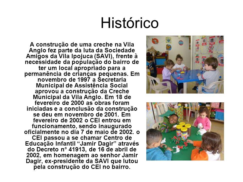 Histórico A construção de uma creche na Vila Anglo fez parte da luta da Sociedade Amigos da Vila Ipojuca (SAVI), frente à necessidade da população do