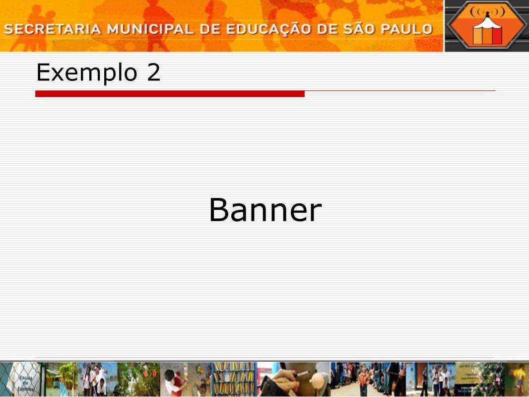 Exemplo 2 Banner