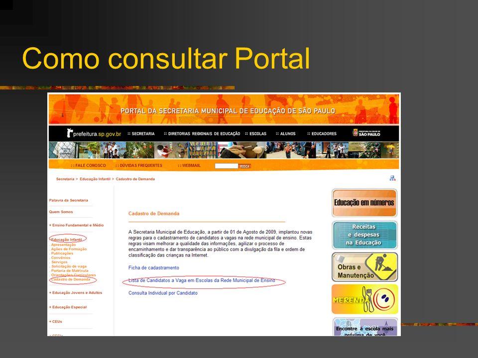 Como consultar Portal