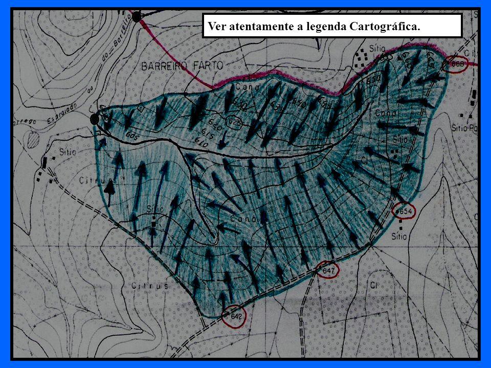 Ver atentamente a legenda Cartográfica.