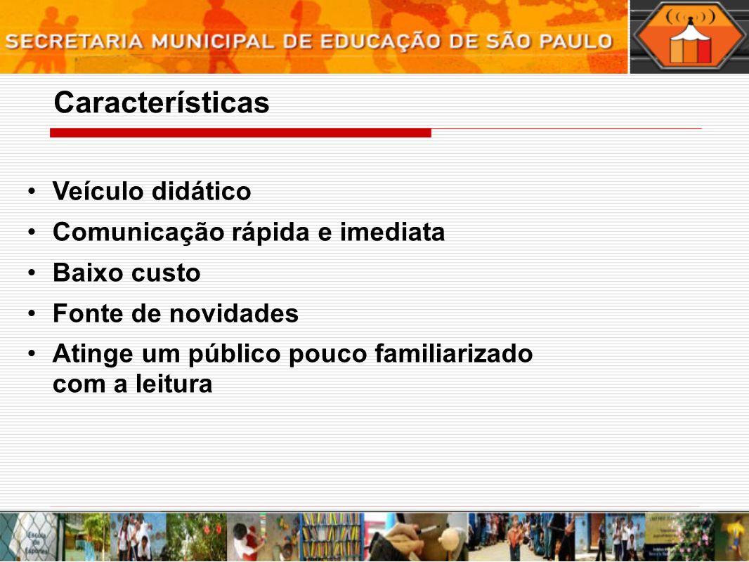 - envolvimento dos participantes do projeto - veículo para produção do conhecimento Avaliação do Jornal Mural