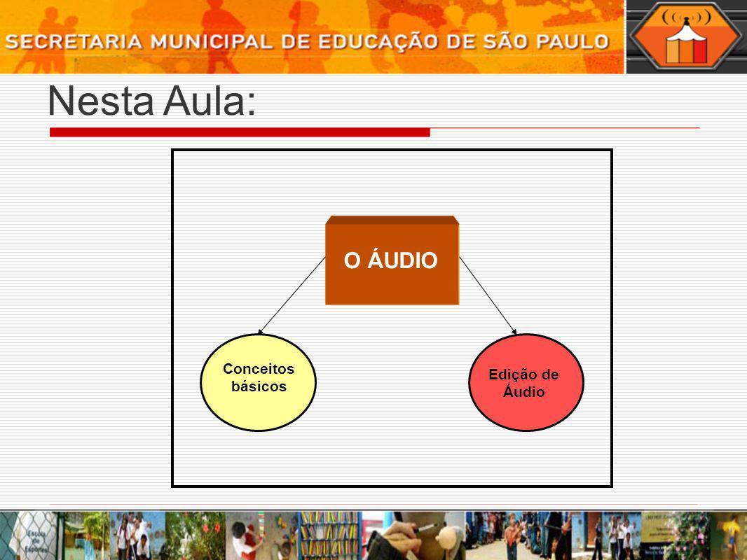 Nesta Aula: Edição de Áudio Conceitos básicos O ÁUDIO