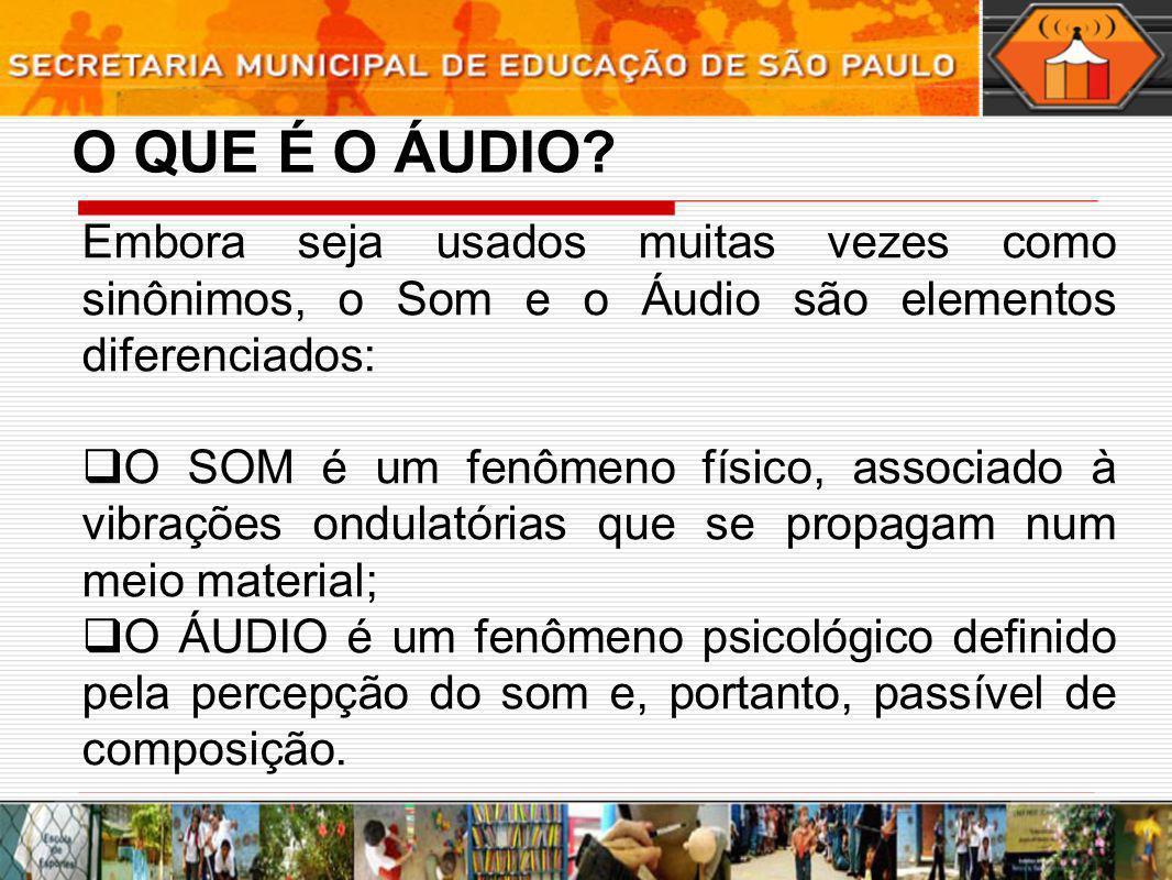 O SOM É definido por parâmetros físicos (acústicos) tais como duração, intensidade, altura e timbre.