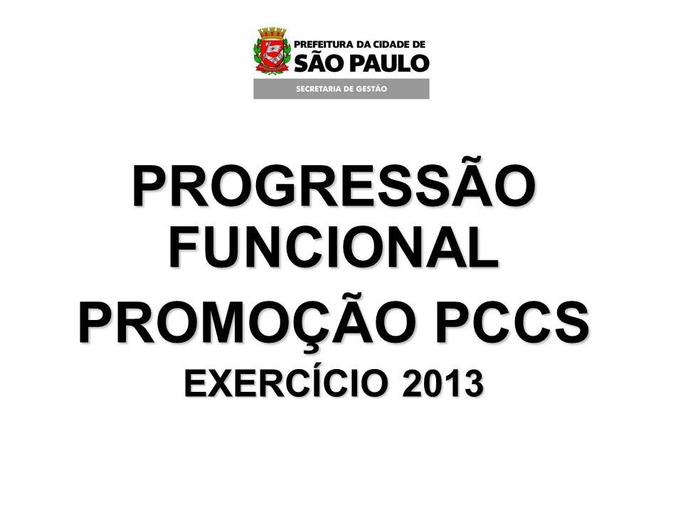 PROGRESSÃO FUNCIONAL PROMOÇÃO PCCS EXERCÍCIO 2013