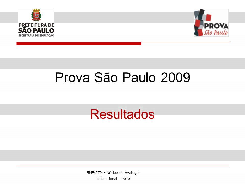 Prova São Paulo 2009 Resultados SME/ATP – Núcleo de Avaliação Educacional - 2010