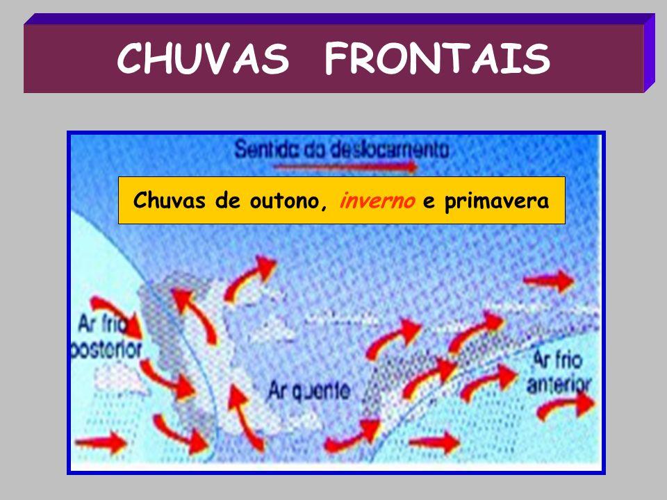 CHUVAS FRONTAIS Chuvas de outono, inverno e primavera