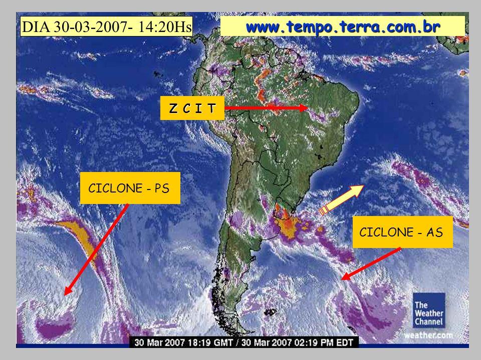 CICLONE - PS CICLONE - AS DIA 30-03-2007- 14:20Hs www.tempo.terra.com.br Z C I T