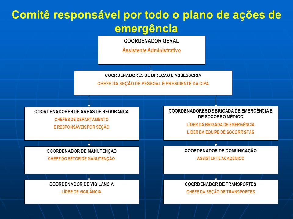 COORDENADOR GERAL Assistente Administrativo COORDENADOR DE TRANSPORTES CHEFE DA SEÇÃO DE TRANSPORTES COORDENADOR DE VIGILÂNCIA LÍDER DE VIGILÃNCIA COO
