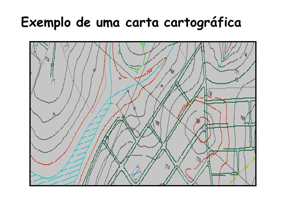 Exemplo de uma carta cartográfica