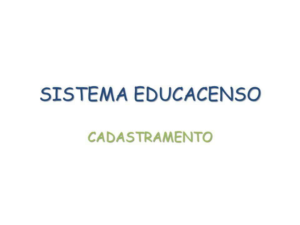 - Os dados da escola devem ser rigorosamente verificados: Identificação, Caracterização e Dados Educacionais.