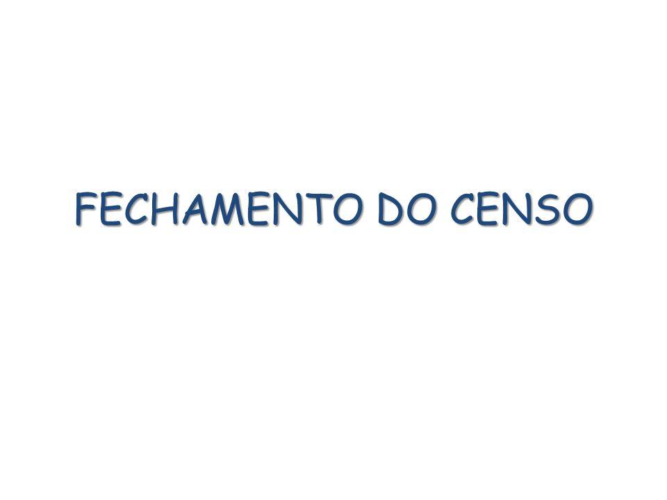 FECHAMENTO DO CENSO