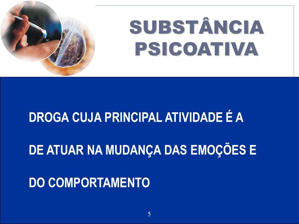 LACO 5 DROGA CUJA PRINCIPAL ATIVIDADE É A DE ATUAR NA MUDANÇA DAS EMOÇÕES E DO COMPORTAMENTO SUBSTÂNCIAPSICOATIVA 5