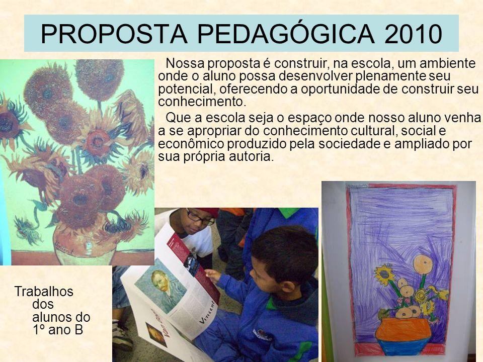 PROPOSTA PEDAGÓGICA 2010 Nossa proposta é construir, na escola, um ambiente onde o aluno possa desenvolver plenamente seu potencial, oferecendo a opor