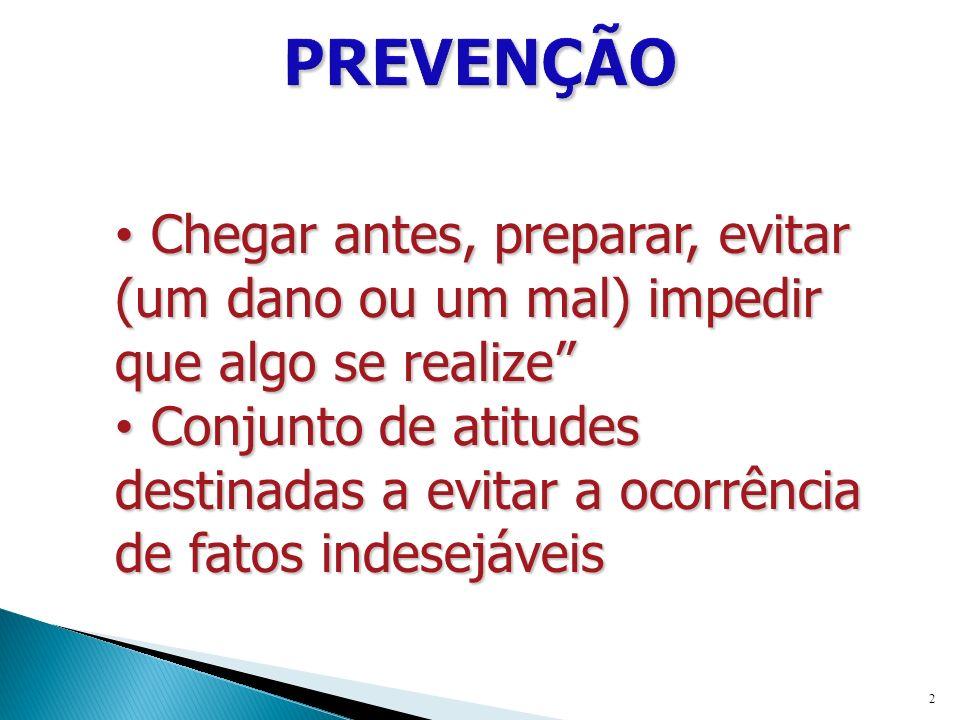 PRIMÁRIA – transmitir informações para que as pessoas posam evitar o aparecimento do problema (antes do uso e abuso).