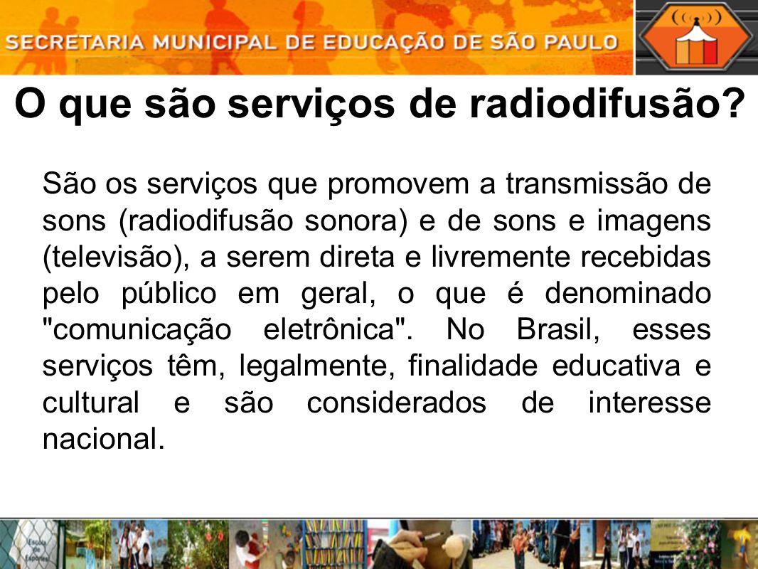 O que são serviços de radiodifusão.