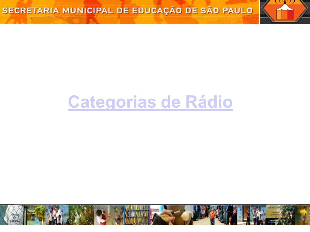 Categorias de Rádio