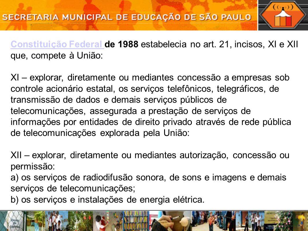 Constituição Federal Constituição Federal de 1988 estabelecia no art.