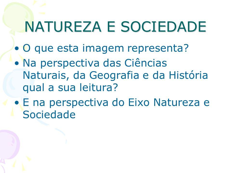 O que esta imagem representa? Na perspectiva das Ciências Naturais, da Geografia e da História qual a sua leitura? E na perspectiva do Eixo Natureza e