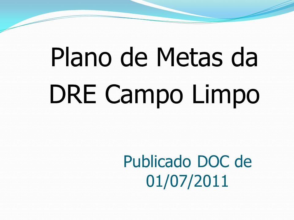 Plano de Metas da DRE Campo Limpo Publicado DOC de 01/07/2011
