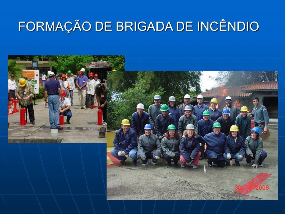 FORMAÇÃO DE BRIGADA DE INCÊNDIO FORMAÇÃO DE BRIGADA DE INCÊNDIO