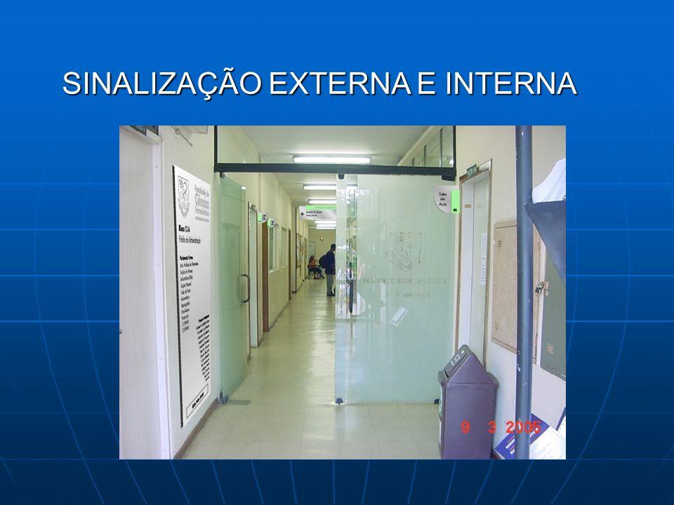 SINALIZAÇÃO EXTERNA E INTERNA SINALIZAÇÃO EXTERNA E INTERNA