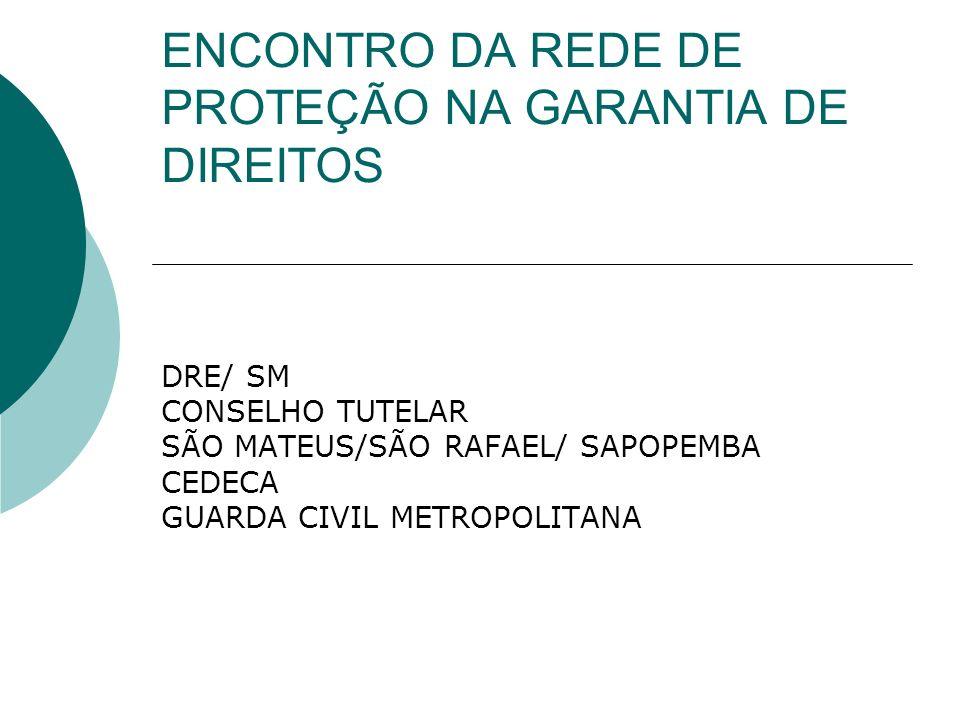SECRETARIA MUNICIPAL DE EDUCAÇÃO Diretoria Regional de Educação São Mateus IDENTIFICAÇÃO DA U.E.