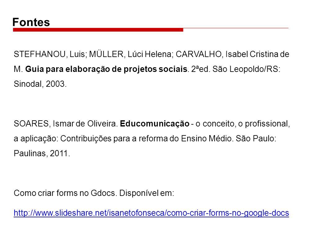 STEFHANOU, Luis; MÜLLER, Lúci Helena; CARVALHO, Isabel Cristina de M.