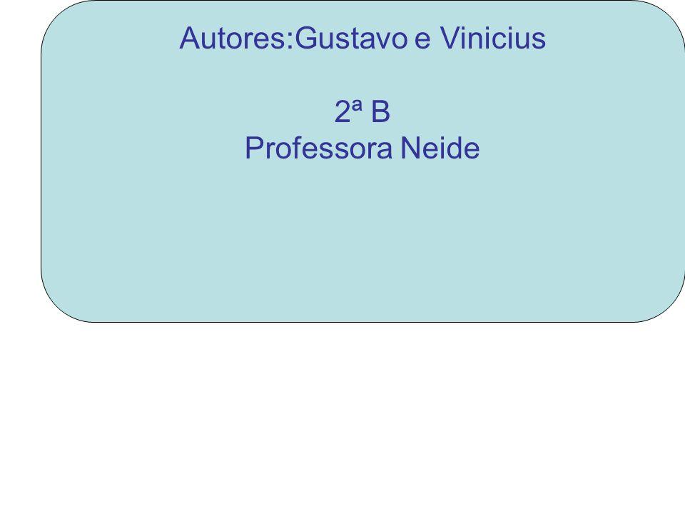 Autores:Gustavo e Vinicius 2ª B Professora Neide